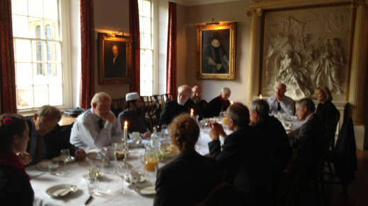 The Coexist Foundation co-hosts a lunch with Master of Magdelene College Cambridge.