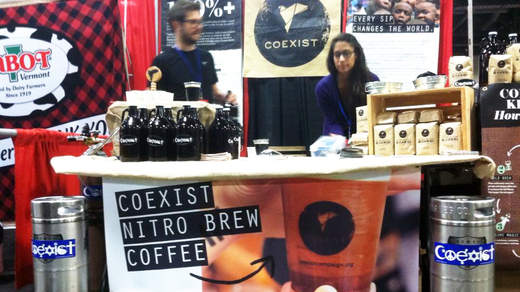 Coexist's nitro brew growlers