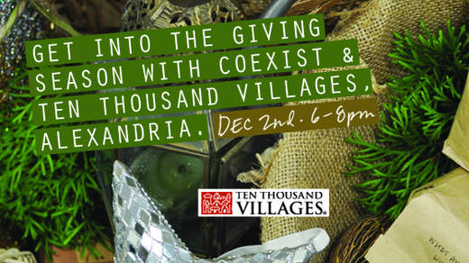Coexist debuting at Ten Thousand Villages Alexandria
